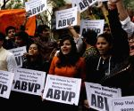 ABVP protest against TMC
