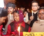 Acid attack victims' candlelight vigil to condemn the 2012 Nirbhaya gangrape