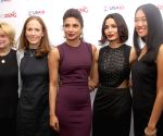 Priyanka Chopra and Freida Pinto egarding the announcement of Girl Rising campaign in India