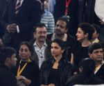 Deepika Padukone, Anushka Sharma during an IPTL match