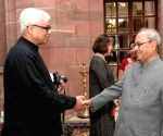 Writer In Residence Programme- Amitav Ghosh calls on President Mukherjee