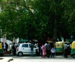 Auto-rickshaws continue to ply on Delhi road during nationwide transport strike