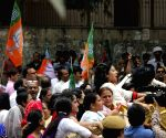 BJP Mahila Morcha demonstration against Somnath Bharti