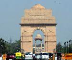 Sunny but cold morning in Delhi