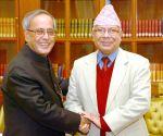 Madhav Nepal calls on President Mukherjee