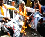 Hindu Sena burns posters of Mother Teresa