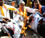 Hindu Sena burns posters of Mother Teresa