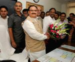 J.P. Nadda assumes charge as Union Health Minister