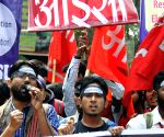 """JNU students protest against """"Lyngdoh Committee recommendations of 2006"""