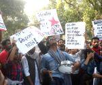 Protesting JNU students take aim at MHRD