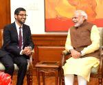 PM Modi interacts with Sundar Pichai on tech, work culture