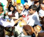 Kisan Cong protest in Delhi against farm laws