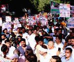 Kisan Khet Mazdoor Congress holds protest