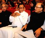 P Chidambaram, Arun Jaitley during a book release function
