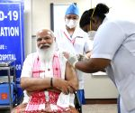 Modi receives his 1st Covid vaccine dose at AIIMS