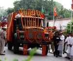 Jaitley's funeral procession leaves BJP headquarters