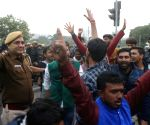 JNU student protests: Security hiked outside HRD Ministry