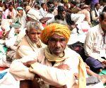 Bhoomi Adhikar Sansad's demonstration against land acquisition ordinance