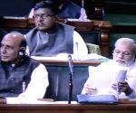 Suresh Prabhakar Prabhu submit Railway Budget in Parliament