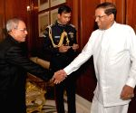 Sri Lanka President calls on the President Pranab Mukherjee