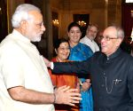 President Mukherjee ahead of his departure for Russia