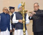 President Mukherjee during birth centenary celebrations of Ch Ranbir Singh Hooda