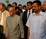 Pranab Mukherjee inaugurates the Sewage Treatment Plant at President's Estate