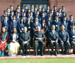 President Mukherjee meets students of Sardar Patel University of Police, Security and Criminal Justice