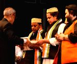 President Mukherjee with the artist of the Sufiana Qawali