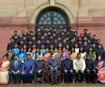 President meets Probationers of Indian Defence Accounts Service, Indian Civil Accounts Service and Others