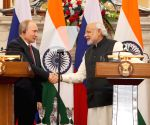 PM Modi and Putin during a joint press conference