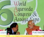 PM Modi addresses during the 6th World Ayurveda Congress & Arogya Expo