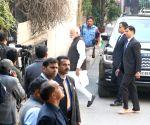 Modi visits George Fernandes' family