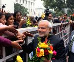 PM Modi interacts with people on New Year's Day