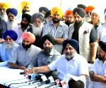 Sukhbir Singh Badal addresses a press conference