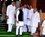 Ailing Mulayam takes oath as Lok Sabha member