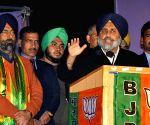 Sukhbir Singh Badal campaigns for Harmeet Singh Kalka