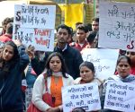 Social activists' demonstration to condemn the 2012 Nirbhaya gangrape
