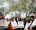 JNU students' rally against violence against women