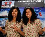 Tashi and Nungshi Malik during a press conference