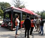 1 killed, 13 injured in Delhi bus accident
