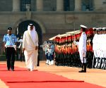 Ceremonial Reception organised for Emir of Qatar