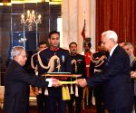 Ambassador-Designates of various nations present their credentials to President Mukherjee