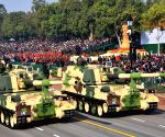 Splendid display of military might, glimpses from Gandhi's life mark R-Day parade