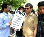 Blind Workers' Union's demonstration against  NFB GS