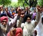 Punjab Pradesh Palledar Mazdoor Union's demonstration