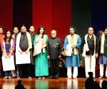Pranab Mukherjee with the SAARC Band Artists