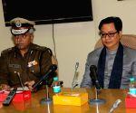 Kiren Rijiju visits Delhi Police head quarters