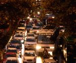 Traffic slows down in national capital after heavy rains