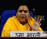 Uma Bharti's press conference